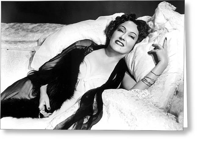 Swanson Greeting Cards - Gloria Swanson in Sunset Blvd.  Greeting Card by Silver Screen