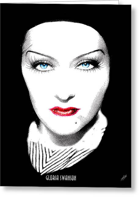 Starlet Greeting Cards - Gloria Swanson Greeting Card by Joaquin Abella