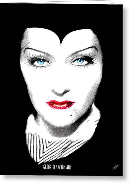 Stepmother Greeting Cards - Gloria Swanson Malefica Greeting Card by Joaquin Abella