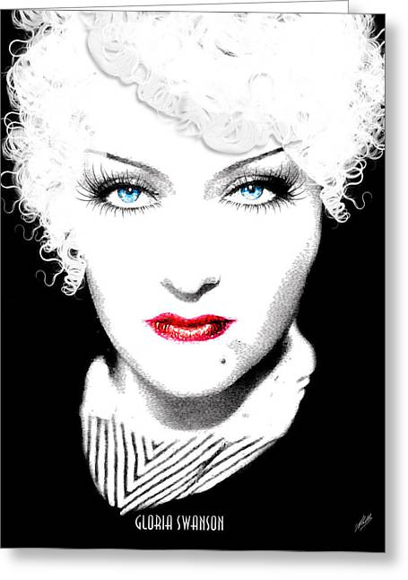 Dietrich Greeting Cards - Gloria Swanson-Marlene Dietrich Greeting Card by Joaquin Abella