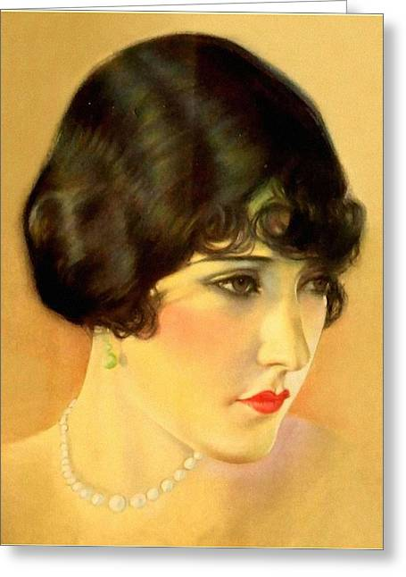 Gloria Swanson Greeting Card by Charlie Ross