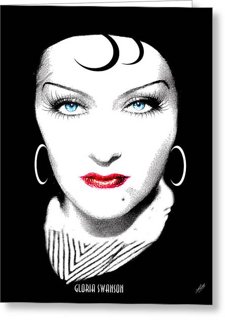 Dietrich Greeting Cards - Gloria Swanson - Esrellita Castro Greeting Card by Joaquin Abella