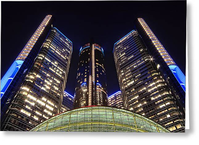 Rencen Greeting Cards - Glorified In Blue Greeting Card by Bryan Levy