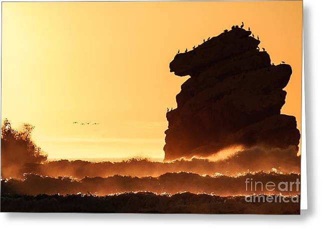 Terry Garvin Greeting Cards - Glorious Afternoon at Morro Bay Greeting Card by Terry Garvin