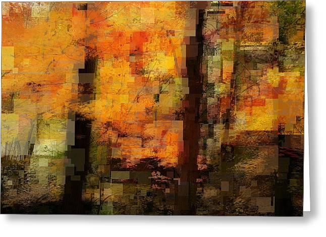 Geometric Style Greeting Cards - Glorious Autumn Greeting Card by Elena Bouvier