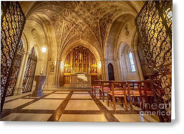 Neogothic Greeting Cards - Glorious Chapel II Greeting Card by Ray Warren