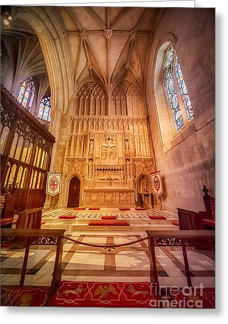 Neogothic Greeting Cards - Glorious Chapel VI Greeting Card by Ray Warren