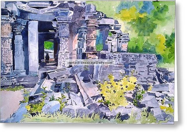 Temple Sculptures Greeting Cards - Glorious days Greeting Card by Rajesh Desai
