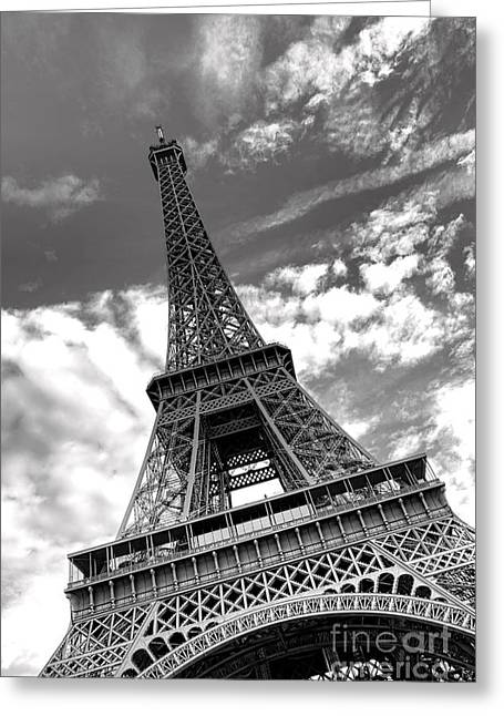 Antenna Greeting Cards - Glorious Eiffel Tower Greeting Card by Olivier Le Queinec