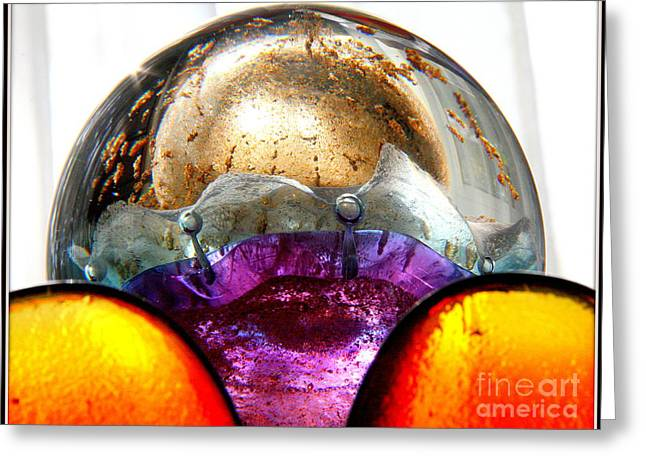 Decorative Glass Art Greeting Cards - Glorious Glass.. Greeting Card by Jolanta Anna Karolska