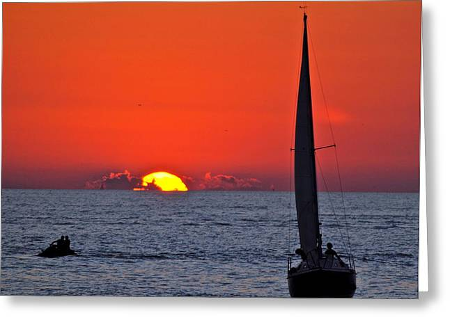 Amazing Sunset Greeting Cards - Glorious Glow Greeting Card by Frozen in Time Fine Art Photography