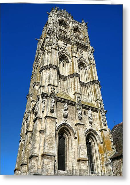 Edifices Greeting Cards - Glorious Gothic Greeting Card by Olivier Le Queinec