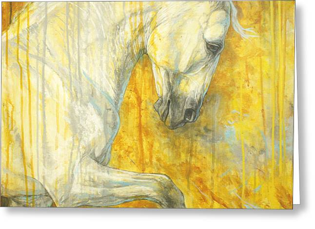 Horse Artist Greeting Cards - Glorious Lipizzaner  Greeting Card by Silvana Gabudean