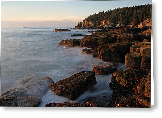 Photos Of Autumn Greeting Cards - Glorious Maine Acadia National Park Greeting Card by Juergen Roth