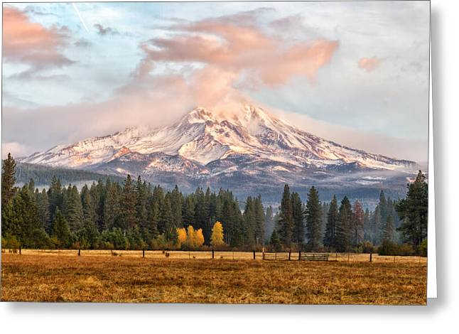 Siskiyou County Greeting Cards - Glorious Mountain Greeting Card by Randy Wood