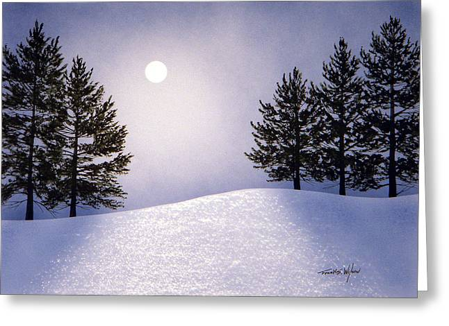 Glorious Night Greeting Card by Frank Wilson
