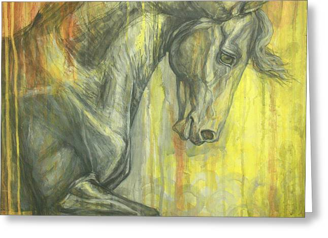 Horse Artist Greeting Cards - Glorious Greeting Card by Silvana Gabudean