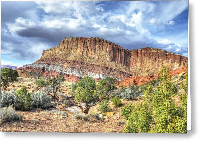 Photographs With Red. Greeting Cards - Glorious Vista Greeting Card by Wendy Elliott
