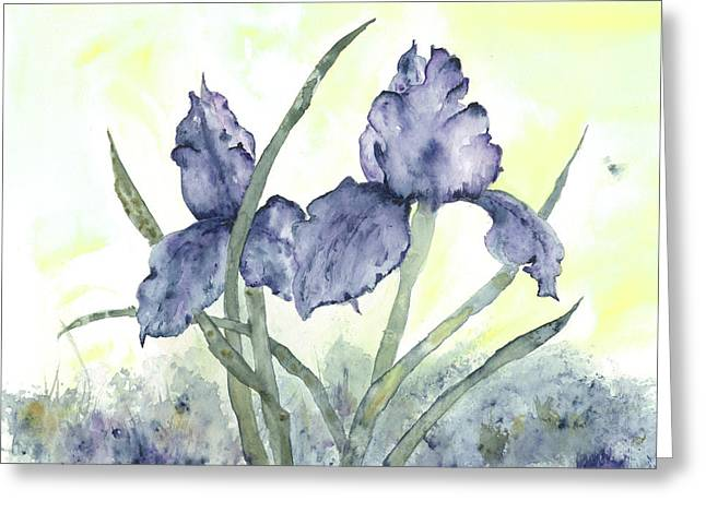Gloriously Purple II Greeting Card by Shirley Mercer