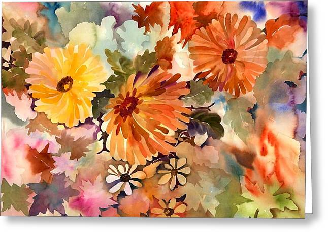 Burn Greeting Cards - Glorius Beauties Greeting Card by Neela Pushparaj