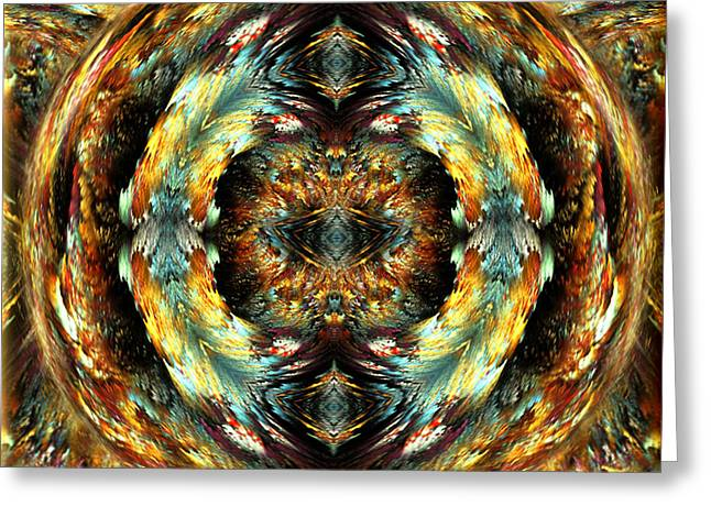 Exaltation Digital Art Greeting Cards - Glory - abstract fantasy art by Giada Rossi Greeting Card by Giada Rossi