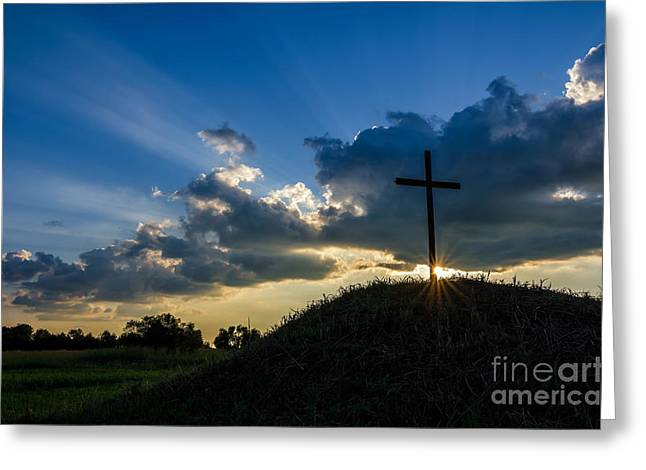 Crepuscular Rays Greeting Cards - Glory Greeting Card by Anthony Heflin