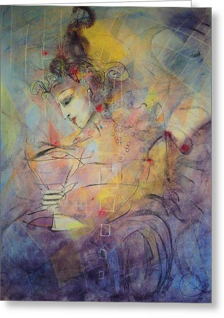 Goblet Pastels Greeting Cards - Glory Greeting Card by Ava Childs