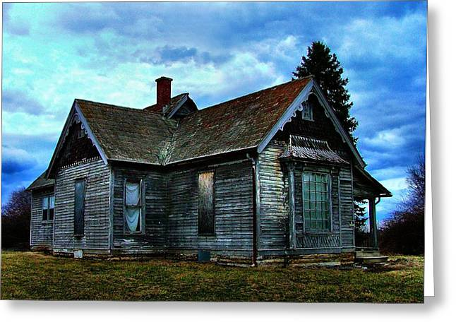 Abandoned Houses Greeting Cards - Glory Days Gone By Greeting Card by Julie Dant