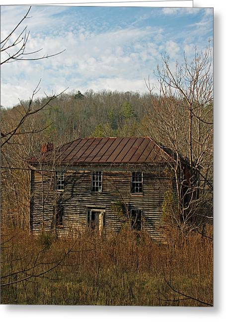 Historic Home Greeting Cards - Glory Days Gone By Greeting Card by Suzanne Gaff
