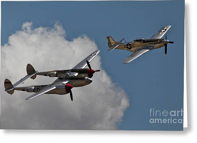 P-51 Photographs Greeting Cards - Glory Days Greeting Card by Hank Taylor