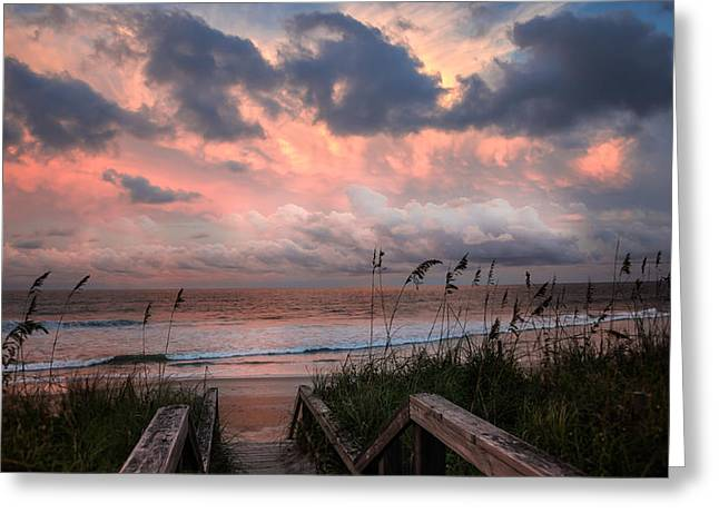 Wrightsville Beach Greeting Cards - GLORY of DAWN Greeting Card by Karen Wiles