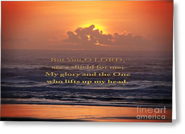 Sunset Framed Prints Greeting Cards - Glory of The Lord Greeting Card by Beverly Guilliams