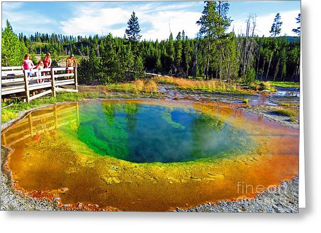 Pandute Digital Art Greeting Cards - Glory Pool Yellowstone National Park Greeting Card by Ausra Paulauskaite