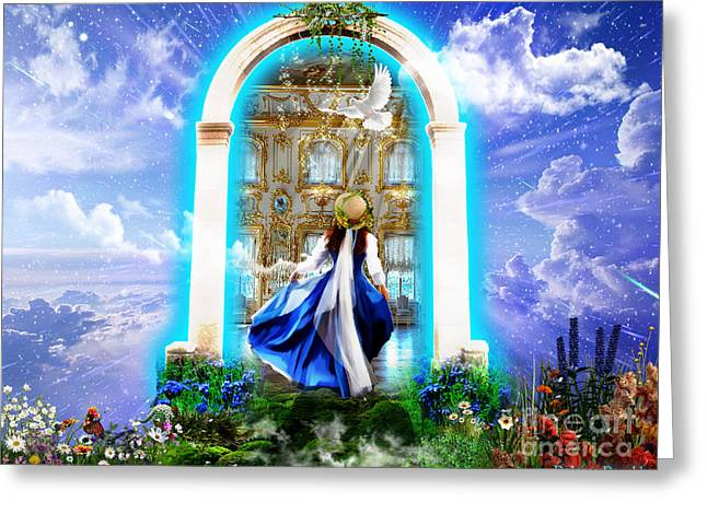 Kingdom Of Heaven Greeting Cards - Glory Portal  Greeting Card by Dolores Develde