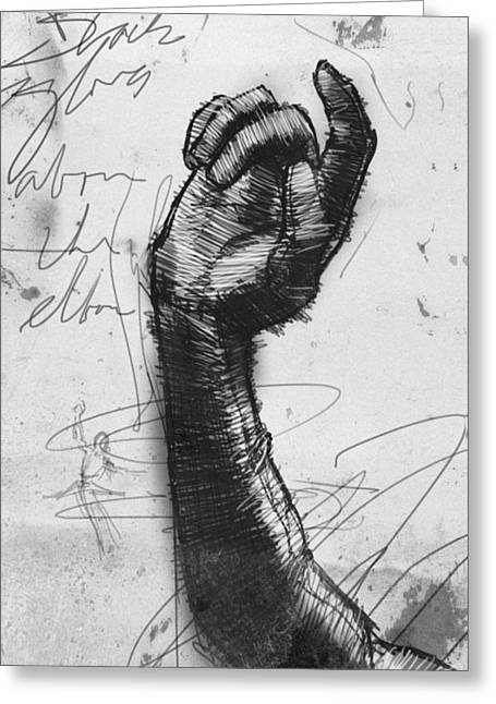 Glove Study Greeting Card by H James Hoff