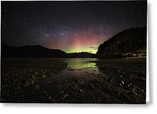 Porteau Cove Provincial Park Greeting Cards - Glow In The Water Greeting Card by Bun Lee