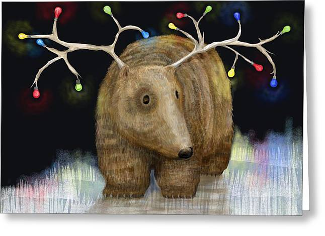 Glow Me The Way For Xmas Greeting Card by Catherine Swenson