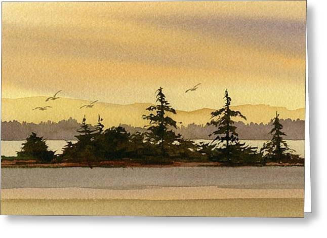 Landscape Framed Prints Greeting Cards - Glow of Dawn Greeting Card by James Williamson