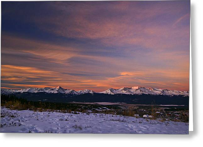 Mt. Massive Greeting Cards - Glow of Morning Greeting Card by Jeremy Rhoades