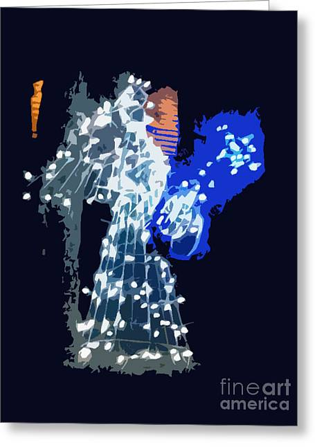 Christmas Greeting Cards - Glowing Angel Greeting Card by Genevieve Esson
