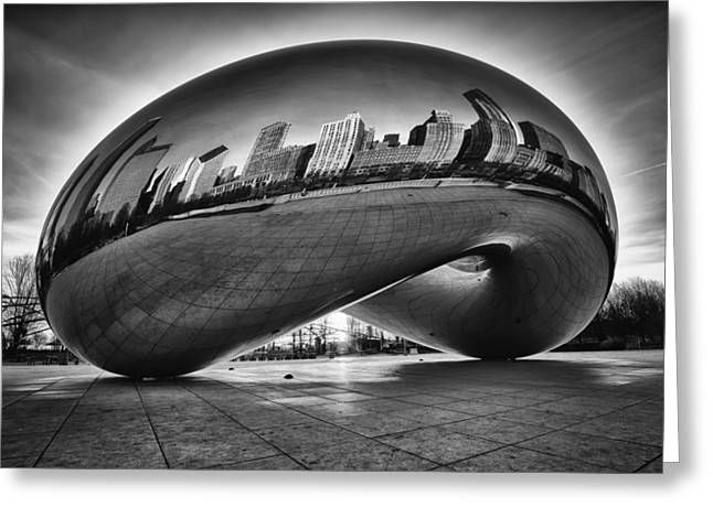 The Bean Greeting Cards - Glowing Bean Greeting Card by Sebastian Musial