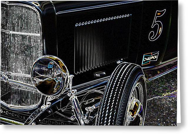 32 Ford Truck Greeting Cards - Glowing Deuce Greeting Card by Steve McKinzie