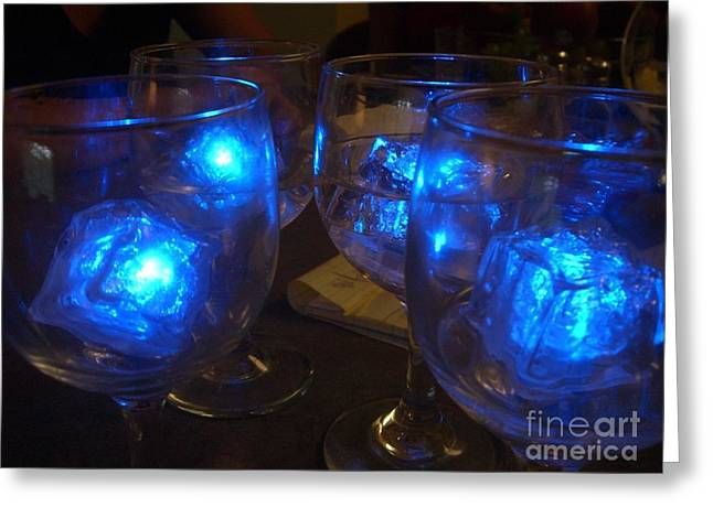 Wine-glass Greeting Cards - Glowing Drinks Greeting Card by Barbie Corbett-Newmin