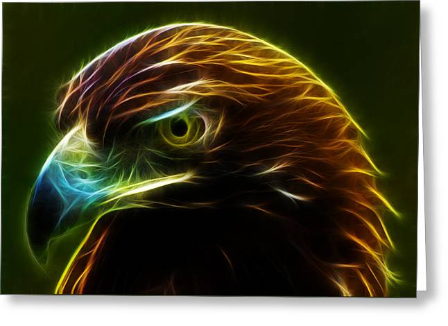 Glowing Gold Greeting Card by Shane Bechler