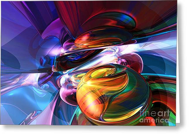 Abnormal Greeting Cards - Glowing life Abstract Greeting Card by Alexander Butler