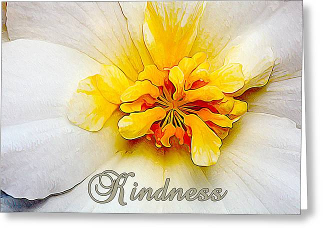 Photos With Red Digital Greeting Cards - Glowing Softly - Kindness 2 Greeting Card by Bill Caldwell -        ABeautifulSky Photography