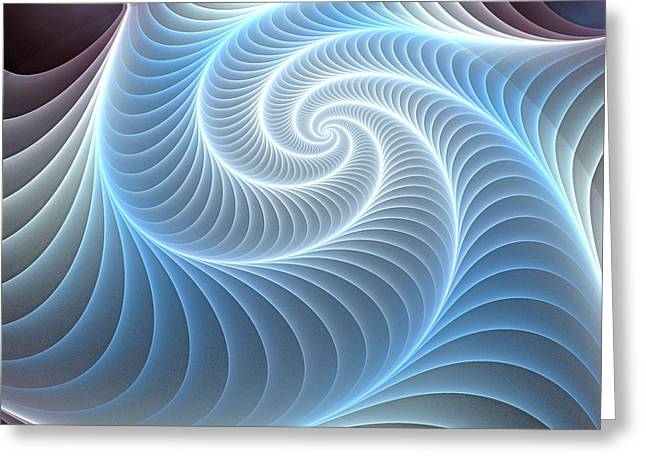 Glowing Mixed Media Greeting Cards - Glowing Spiral Greeting Card by Anastasiya Malakhova
