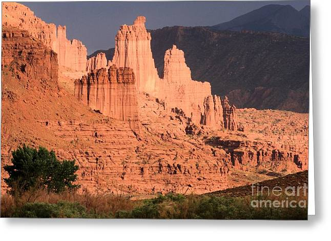 Southern Utah Greeting Cards - Glowing Towers Greeting Card by Adam Jewell