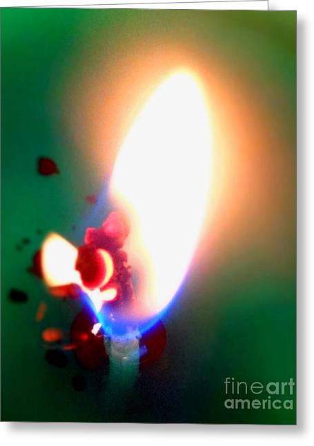 Justin Moore Greeting Cards - Glowing Wick Greeting Card by Justin Moore
