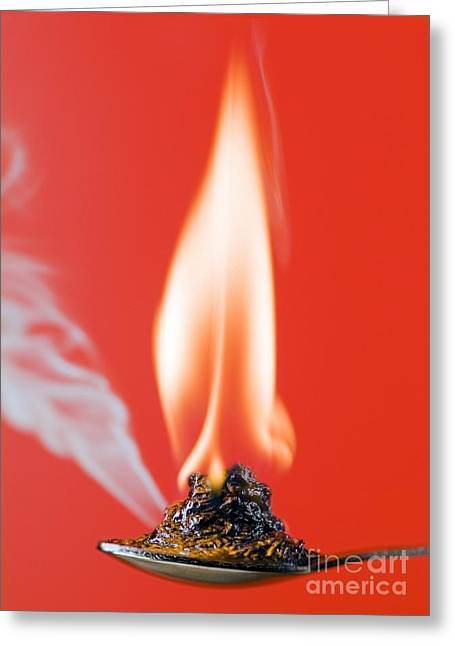 Carbon Dioxide Greeting Cards - Glucose Combustion Greeting Card by Martyn F. Chillmaid